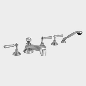 300 Series Roman Tub Set with Diverter Handshower and Aria Handle (available as trim only P/N: 1.300193T)