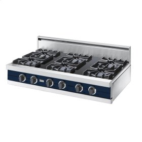 "Viking Blue 42"" Open Burner Rangetop - VGRT (42"" wide, six burners)"