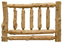 Traditional Log Headboard King, Natural Cedar