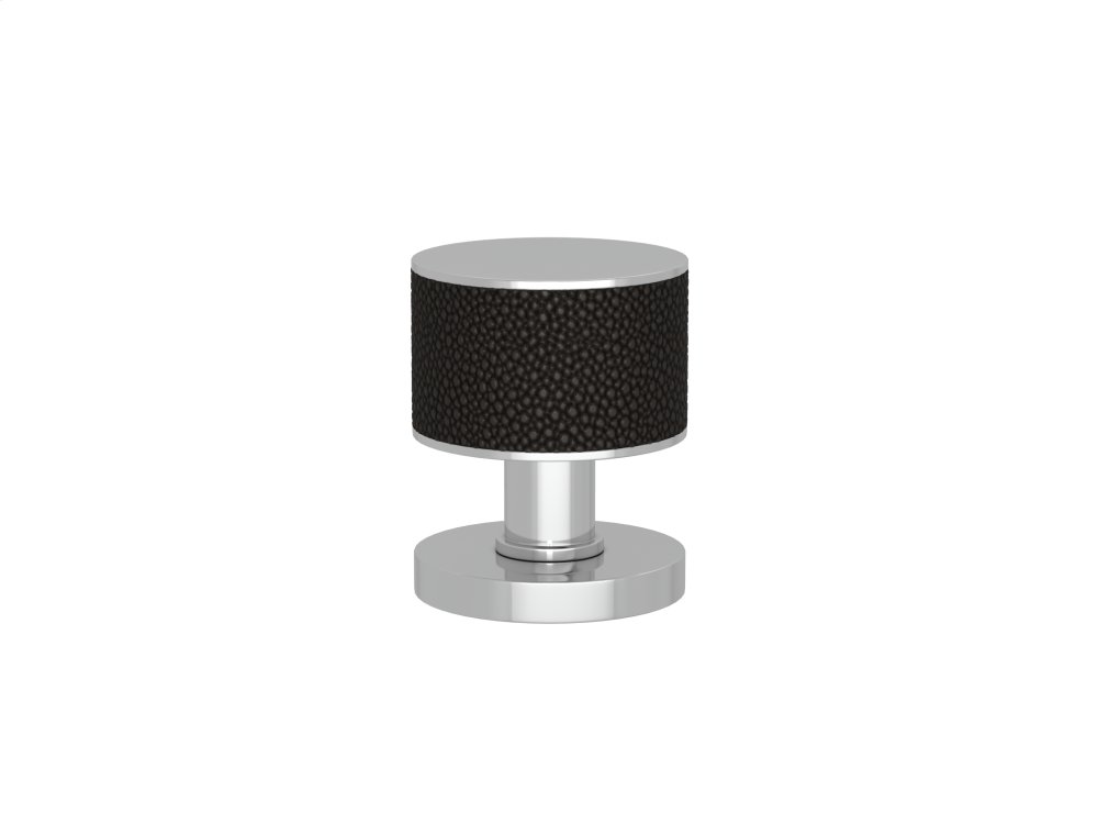 Stacked Shagreen Recess Amalfine In Black Bronze And Bright Chrome