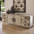 Metro Long Cabinet-Grey Hair-on-Hide Product Image