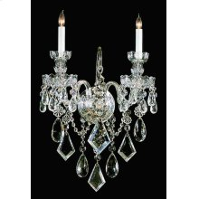 Traditional Crystal 2 Light Crystal Wall Sconce