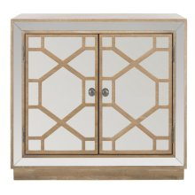 Juniper 2 Door Chest - Rustic Oak / Dark Bronze / Mirror