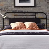 Queen Metal Headboard - Black