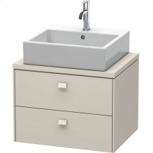 Brioso Vanity Unit For Console Compact, Taupe Matt (decor)