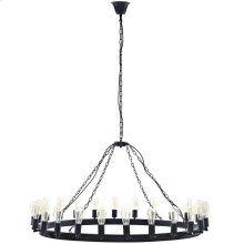 "Teleport 52"" Steel Chandelier in Brown"