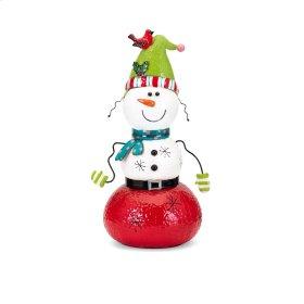 Whimsy Christmas Small Snowman Lantern