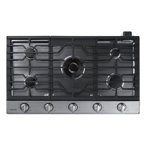 "Samsung Appliances36"" Gas Cooktop with 22K BTU True Dual Power Burner (2016)"