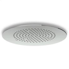 (dia) 400 mm ceiling mounted stainless steel rain shower system. Minimum flowrate requested 12 lt/min.
