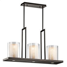 Triad Collection Triad 3 Light Linear Chandelier - Olde Bronze
