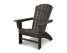 Vintage Coffee Nautical Curveback Adirondack Chair in Vintage Finish