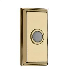 Polished Brass BR7015 Rectangular Bell Button