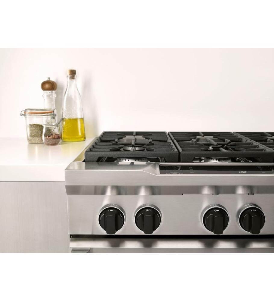 KitchenAid® 36 Inch 6 Burner Dual Fuel Freestanding Range, Commercial Style