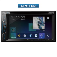 "Multimedia DVD Receiver with 6.2"" WVGA Display, Built-in Bluetooth®, HD Radio "" Tuner, SiriusXM-Ready "" and AppRadio Mode +, Remote Control Included and two camera inputs"