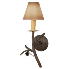 Pine Iron Candle Wall Sconce