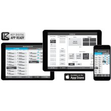 Access & Control Key Digital® App Ready products via TCP/IP directly with Key Digital® App. Control Key Digital® Enterprise AV over IP Systems with full switching capabilities.