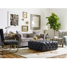 Tufted Back Sofa with Nail Head Trim