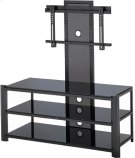 """3-tier TV Stand, Black/black Glass, 47.5""""LX19.5""""WX52""""H Product Image"""