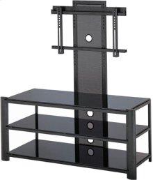 "3-tier TV Stand, Black/black Glass, 47.5""LX19.5""WX52""H"