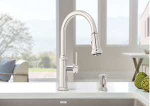 Blanco Empressa Kitchen Faucet With Pulldown Spray - Polished Nickel