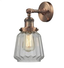 203-AC-G142 - CLEAR FLUTED GLASS WALL SCONCE