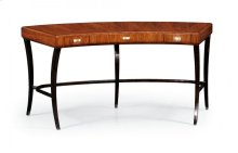 Art Deco Satin Curved Desk for Drawers