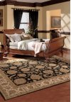 Heritage Hall He19 Blk Free Form Rug 6' X 6'