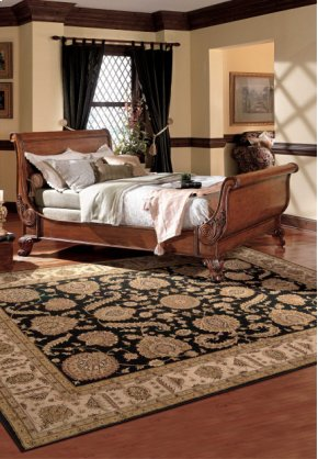 Heritage Hall He19 Blk Rectangle Rug 3'9'' X 5'9''