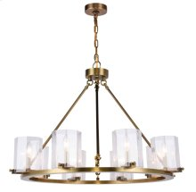 Monterey Collection 8-Light Burnished Brass Finish Chandelier