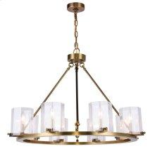 Monterey Collection 8-Light Burnished Brass Finish Chandelier