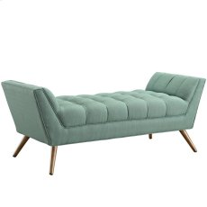 Response Medium Upholstered Fabric Bench in Laguna Product Image