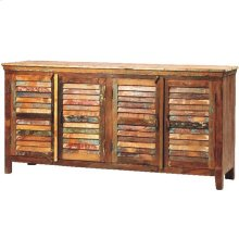 Louvered Sideboard 4 Door