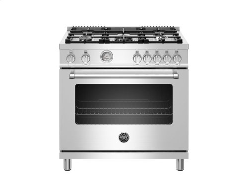 36 inch 5-Burner, Gas Oven Stainless