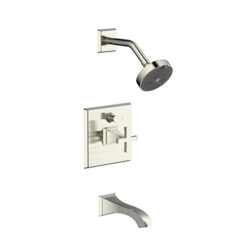 Tub and Shower Trim Leyden Series 14 Satin Nickel 1