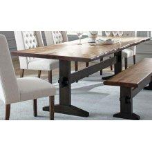 Burnham Farmhouse Mahogany Dining Table