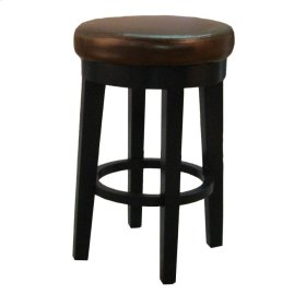 Cameron Bonded RD Swivel CTR Stool, Brown