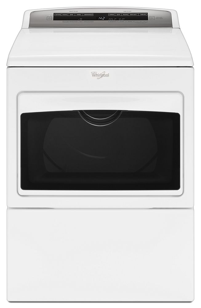7.4 cu. ft. Top Load Electric Dryer with AccuDry Sensor Drying Technology  WHITE