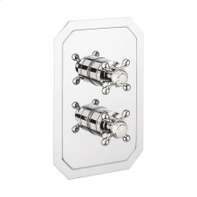 Belgravia 1500 Thermo Valve Trim (2 outlets) - Polished Chrome