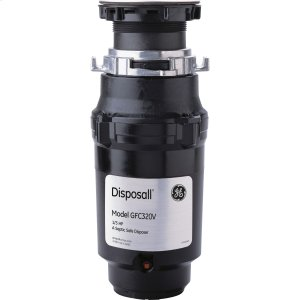 GE1/3 HP Continuous Feed Garbage Disposer Non-Corded -