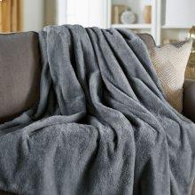 Sunbeam® Oversized Arctic Plush Heated Throw, Misty Grey