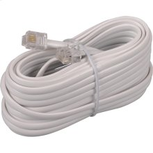 25 foot phone line cords with connectors in white color