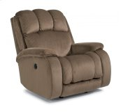 Huron Fabric Power Rocking Recliner