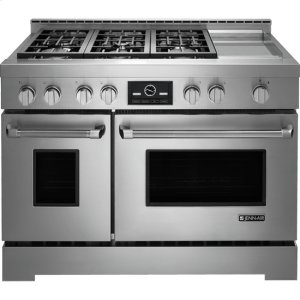 """JENN-AIRPro-Style(R) 48"""" Gas Range with Griddle and MultiMode(R) Convection"""