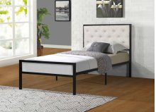 7577 Beige Twin Bed