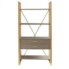 Latitude Bookcase - Grey Birch