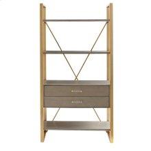 Latitude Bookcase - Grey Birch
