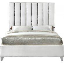 """Enzo Velvet Bed - 59"""" W x 81"""" D x 63.5"""" H"""