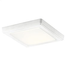 Zeo Collection Zeo 4000K LED 7 Inch square Flushmount WH