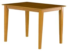 Shaker Dining Table 36x60 in Caramel Latte