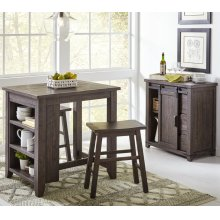 Madison County 3pc Counter Height Set - Barnwood